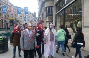 شبهوا بن زايد بالكلب.. وقفة احتجاجية في لندن ضد تطبيع الإمارات مع إسرائيل