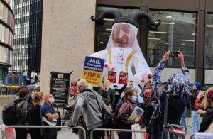وقفة احتجاجية في وسط لندن تنديدا باتفاق العار الإماراتي مع إسرائيل