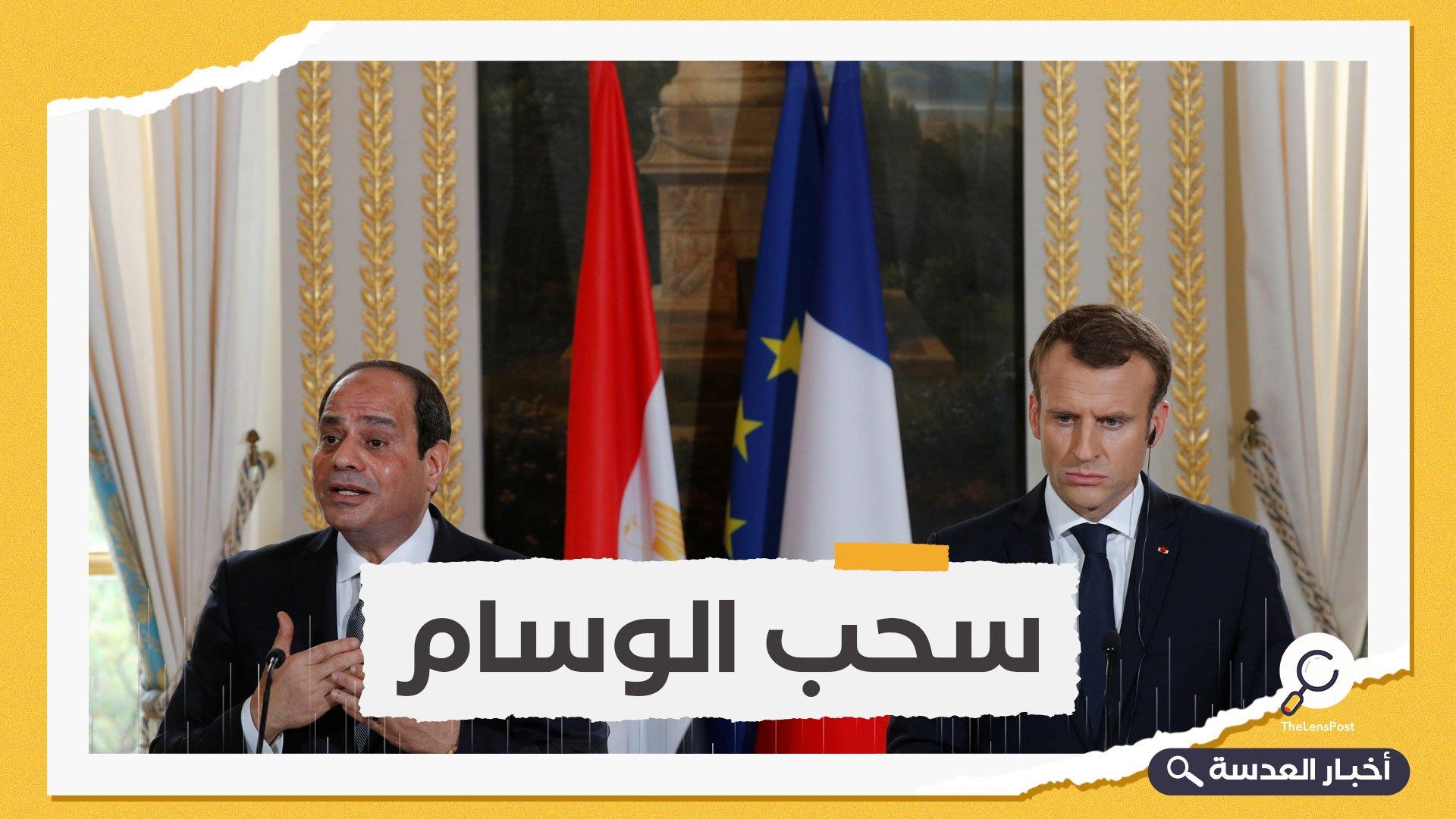"""مجرم و استبدادي.. دعوى قضائية لسحب """"وسام الشرف الفرنسي"""" من السيسي"""