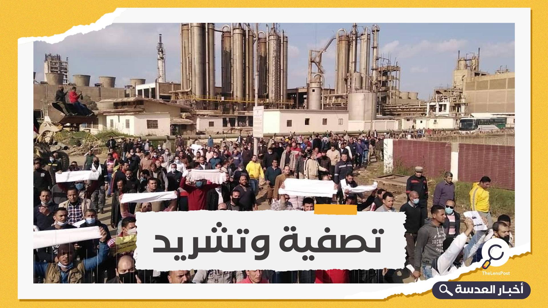 بعد اعتصامهم لوقف بيع المصنع.. اعتقال 9 عمال بشركة الدلتا للأسمدة في مصر