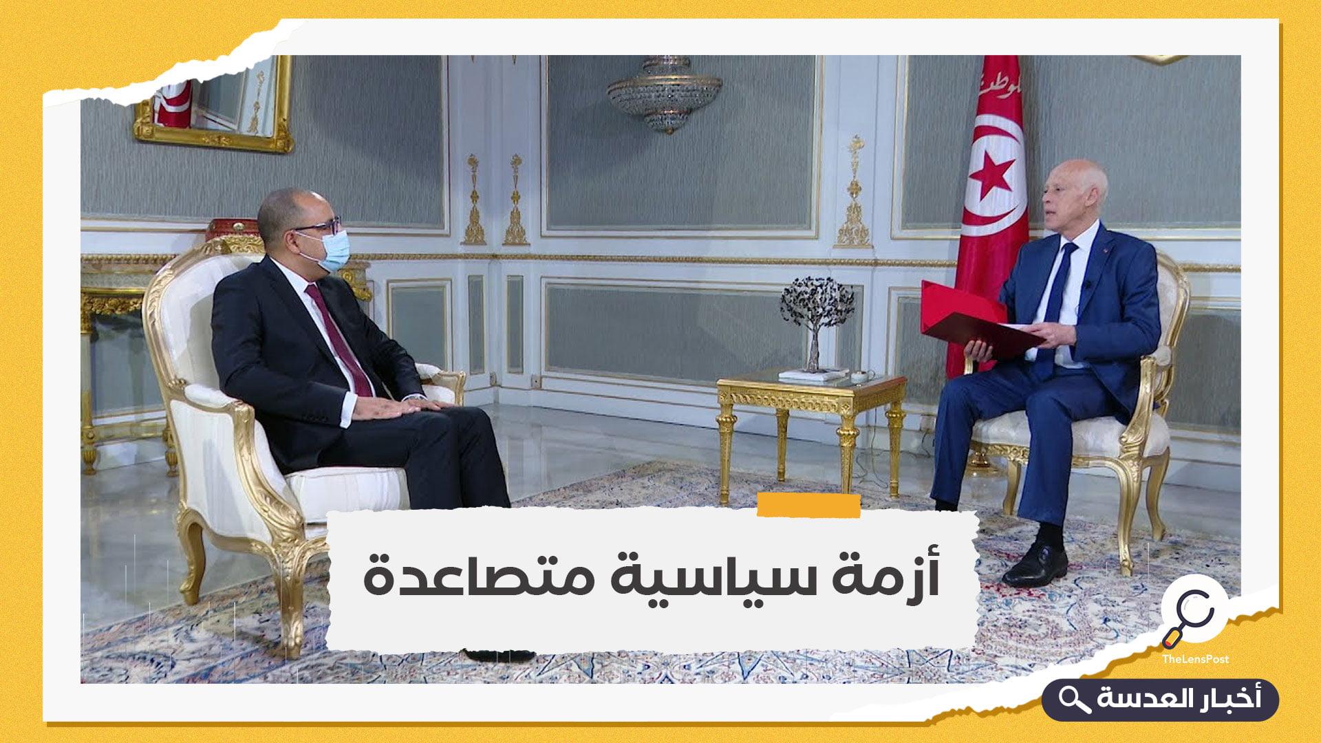 استمرارًا للأزمة المتصاعدة بينهما.. المشيشي يراسل سعيد رسميًا