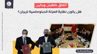 اتفاق طهران وبكين: هل يكون نهاية العزلة الدبلوماسية لإيران؟