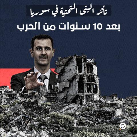 بعد 10 سنوات من قمع بشار الأسد لشعبه، كيف تأثرت البنية التحتية في سوريا ؟