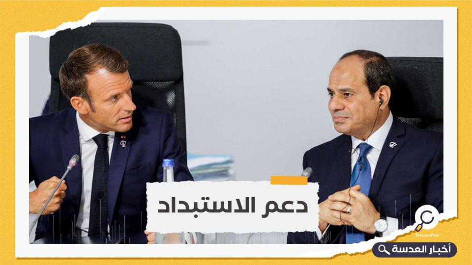 ماكرون يبحث مع السيسي تطورات ليبيا وأزمة سد النهضة