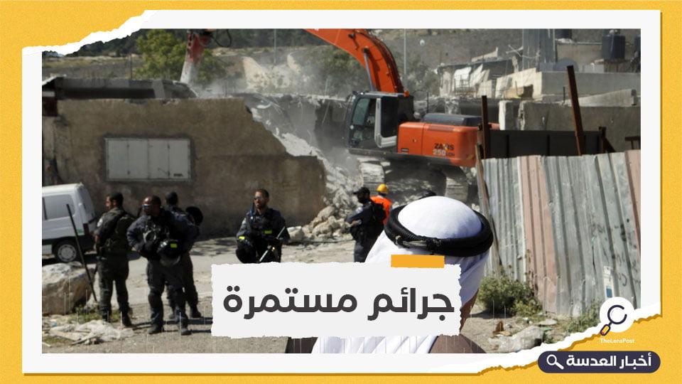 الكيان الصهيوني يهدم 35 مبنى فلسطينيًا خلال أسبوعين