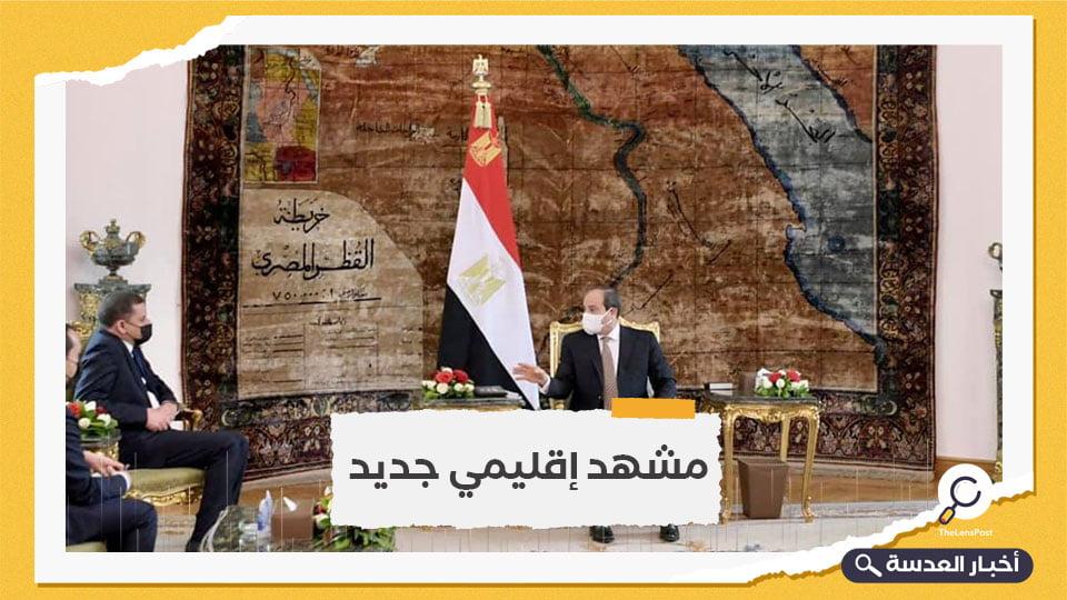 السيسي يعلن دعمه الكامل للسلطة الليبية الجديدة