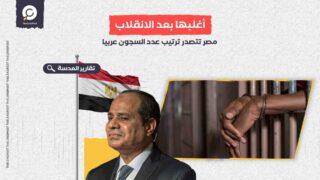 أغلبها بعد الانقلاب.. مصر تتصدر ترتيب عدد السجون عربيا