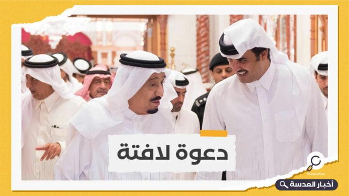 الملك سلمان يدعو الأمير تميم لزيارة السعودية