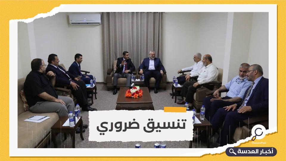 """""""حماس"""" تبحث مع وفد مخابراتي مصري الانتخابات الفلسطينية"""