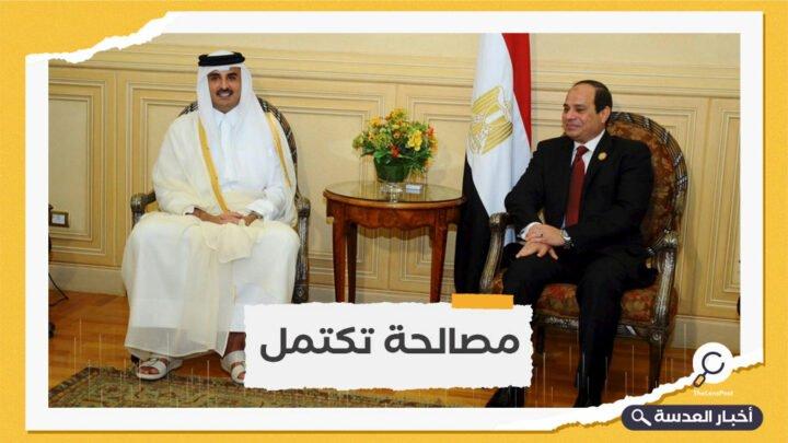 للمرة الأولى.. اتصال هاتفي بين السيسي وأمير قطر