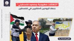 """""""انتهاكات صهيونية، وصمود فلسطيني"""".. حصاد اليومين الماضيين في فلسطين"""