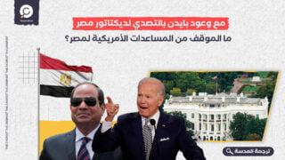 مع وعود بايدن بالتصدي لديكتاتور مصر... ما الموقف من المساعدات الأمريكية لمصر؟