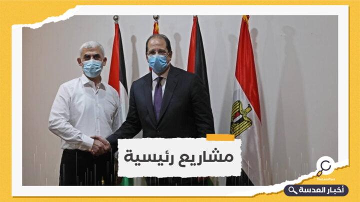 رئيس المخابرات المصرية يلتقي السنوار في غزة