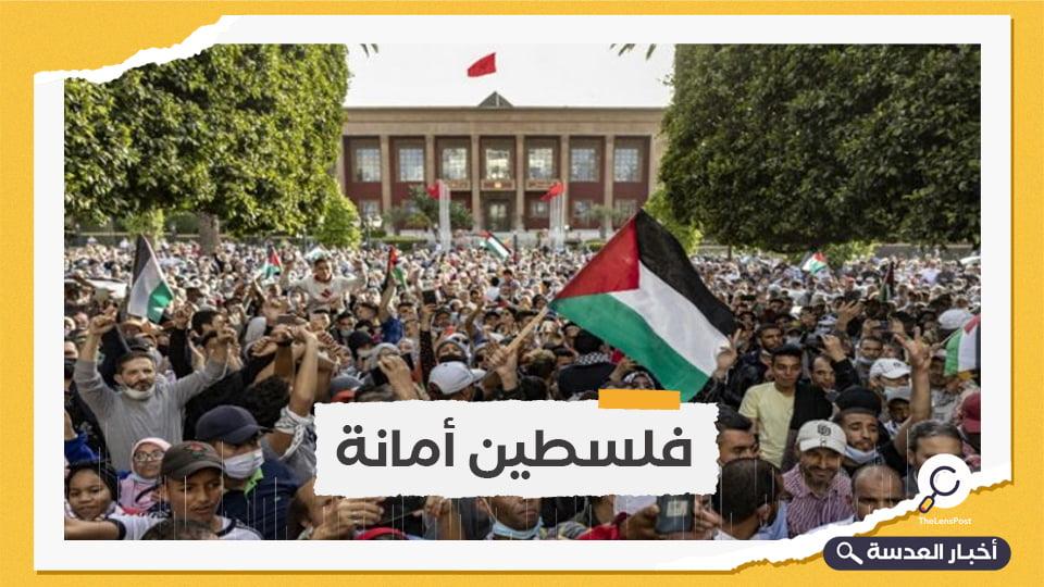 مظاهرات بـ 40 مدينة مغربية رفضًا للتطبيع