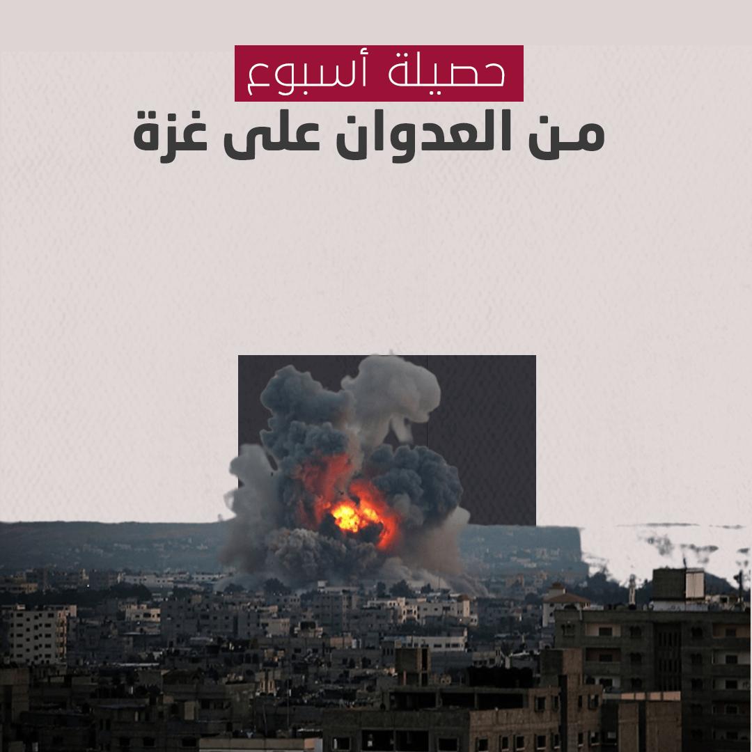 حصيلة أسبوع العدوان الصهيوني الغاشم على قطاع غزة
