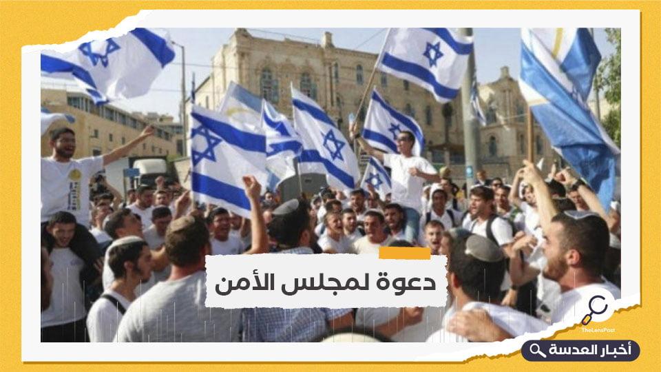 """""""الوطني الفلسطيني"""" يدعو لمنع """"مسيرة الأعلام"""""""