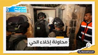قوات الاحتلال تعتدي على أهالي حي الشيخ جراح