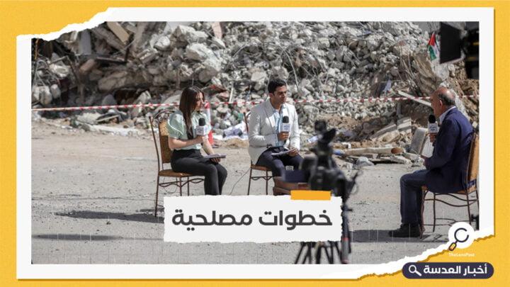 التلفزيون الرسمي المصري يبث من غزة لأول مرة