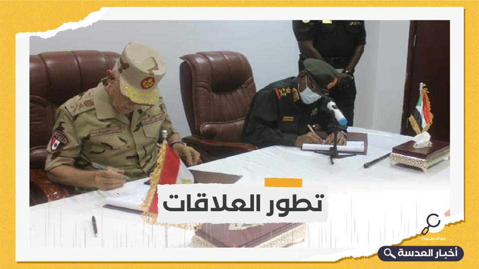 مصر والسودان يوقعان مذكرة للتعاون العسكري المشترك