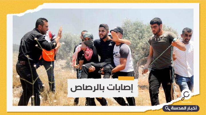الاحتلال يقمع مسيرة منددة بالاستيطان شمال الضفة