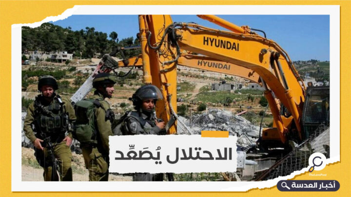 جيش الاحتلال يهدم منشآت فلسطينية بالضفة
