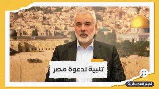 هنية يصل القاهرة لإجراء مباحثات مع المسؤولين المصريين