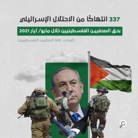 انتهاكات الاحتلال الإسرائيلي بحق الصحفيين الفلسطينيين خلال مايو/ أيار 2021