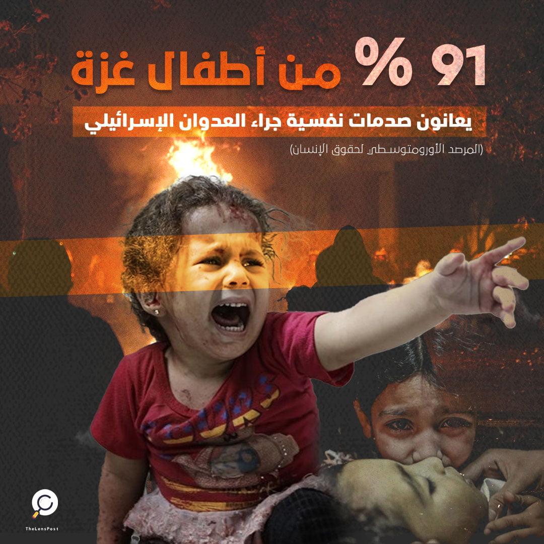 أطفال غزة يعانون صدمات نفسية جراء قصف الاحـتلال