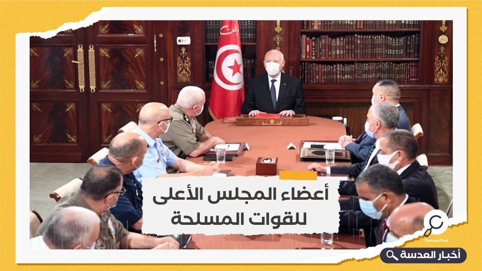 الرئيس التونسي يلتقي مسؤولين عسكريين وأمنيين بقصر قرطاج