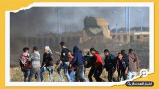 عشرات الجرحى الفلسطينيين جراء اعتداءات الاحتلال على المتظاهرين