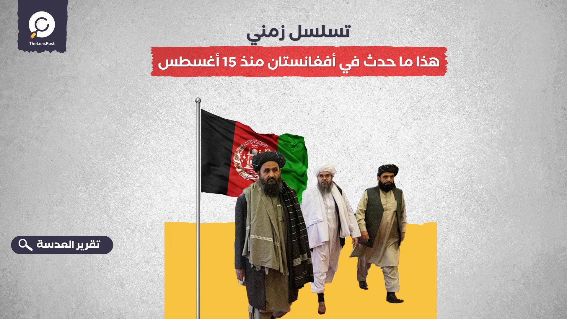 تسلسل زمني.. هذا ما حدث في أفغانستان منذ 15 أغسطس