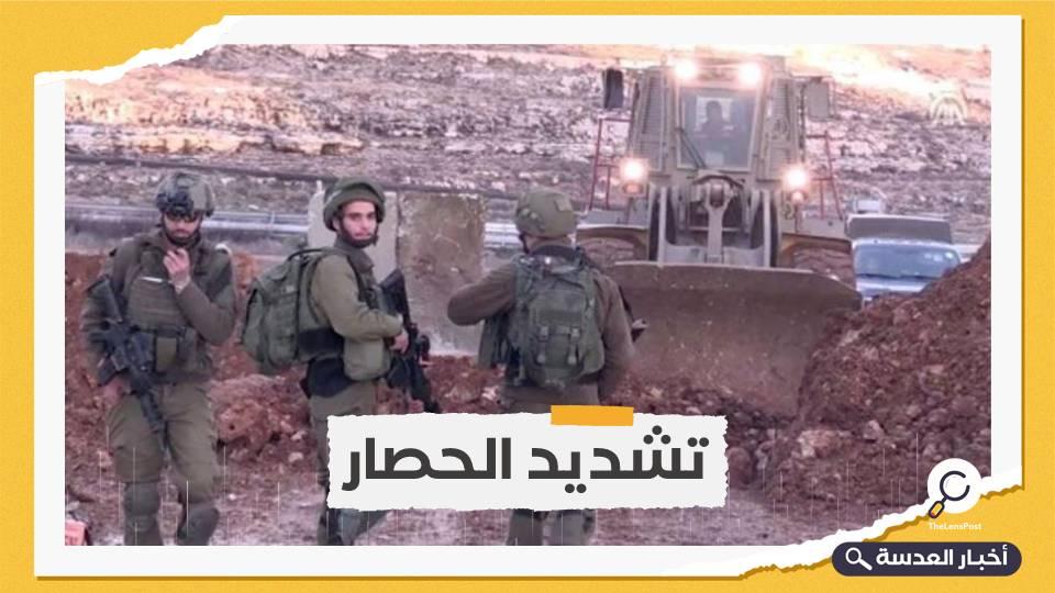 جيش الاحتلال يقيم عائق جديد على حدود غزة
