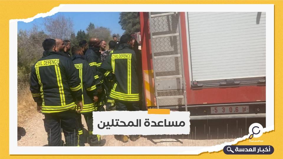 الاحتلال يشكر عباس للمساعدة بإطفاء الحرائق