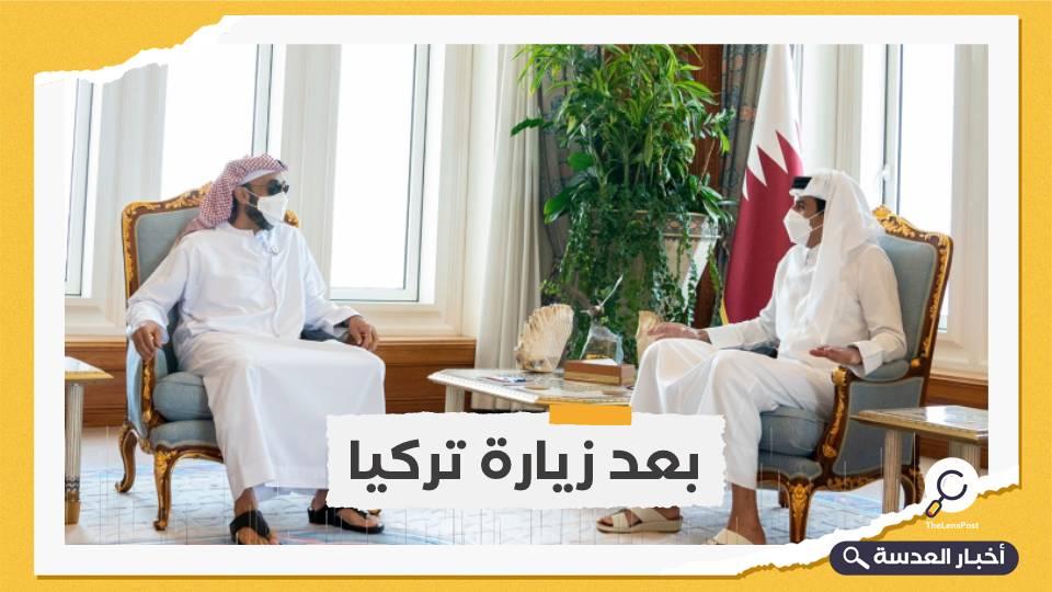 طحنون بن زايد يزور الدوحة ويلتقي أمير قطر