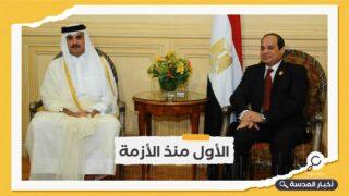 أمير قطر يلتقي السيسي ومحمد بن راشد