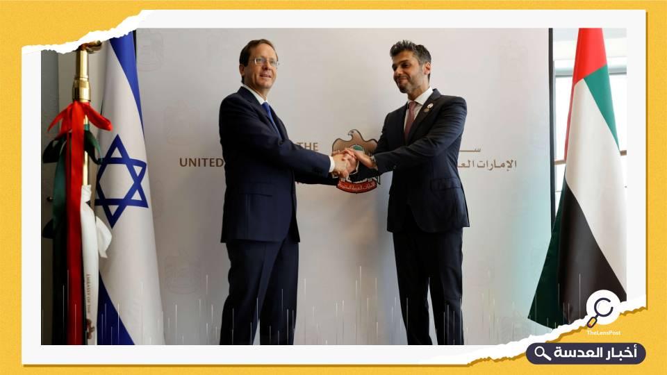 سفارة الإمارات لدى دولة الاحتلال تحتفل بذكرى اتفاق الخيانة