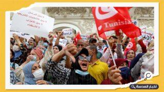 احتجاجات في الشارع التونسي ضد الرئيس قيس سعيد