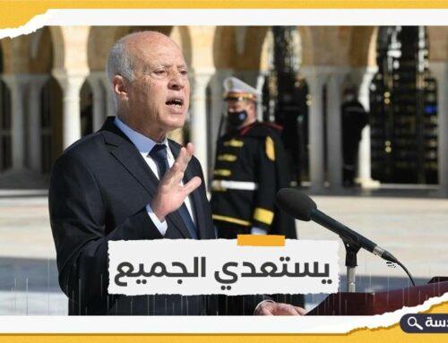 """الرئيس التونسي يؤكد استمرار الإجراءات الاستثنائية ويصف الاحتجاجات بـ """"المسرحية"""""""