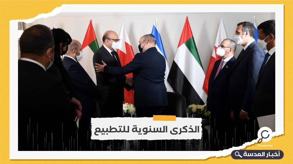 رئيس وزراء الاحتلال الإسرائيلي يلتقي وزيرين بحريني وإماراتي