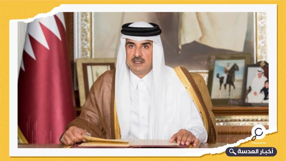 أمير قطر يؤكد دعم بلاده لوحدة ليبيا واستقراره