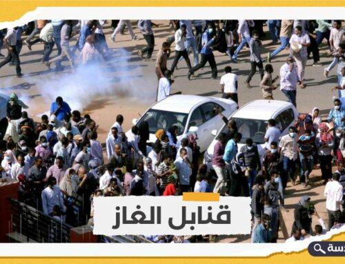 الشرطة السودانية تفرق المتظاهرين بمحيط القصر الرئاسي